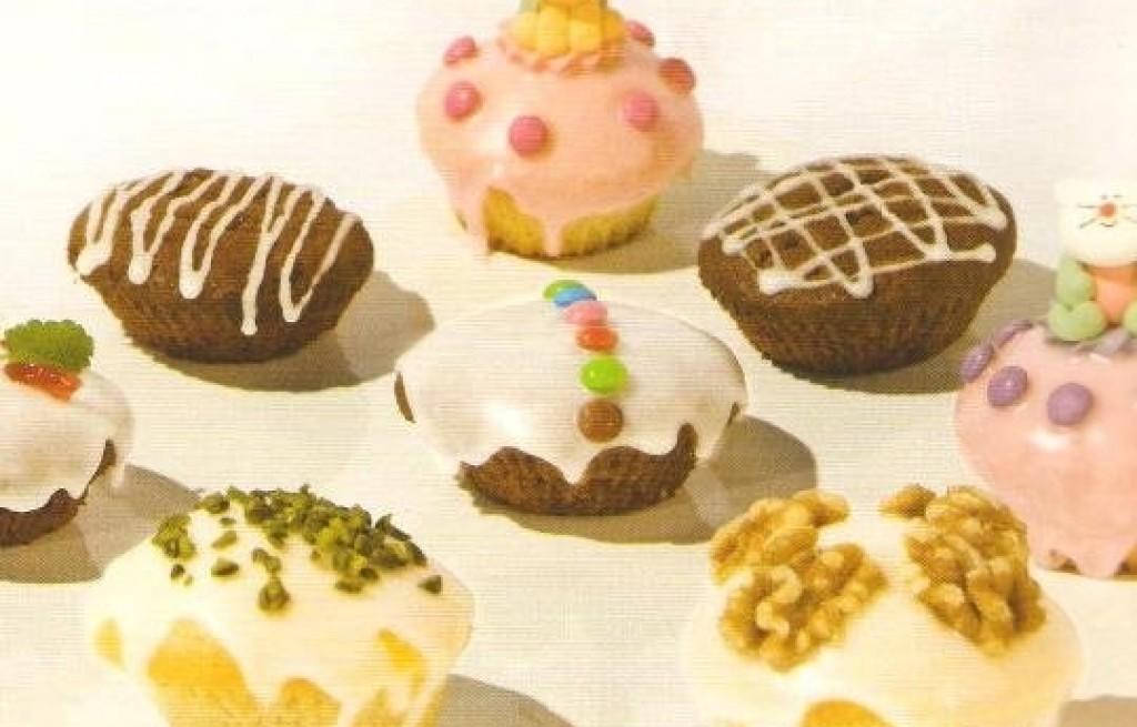 Muffinki z polewą lukrową