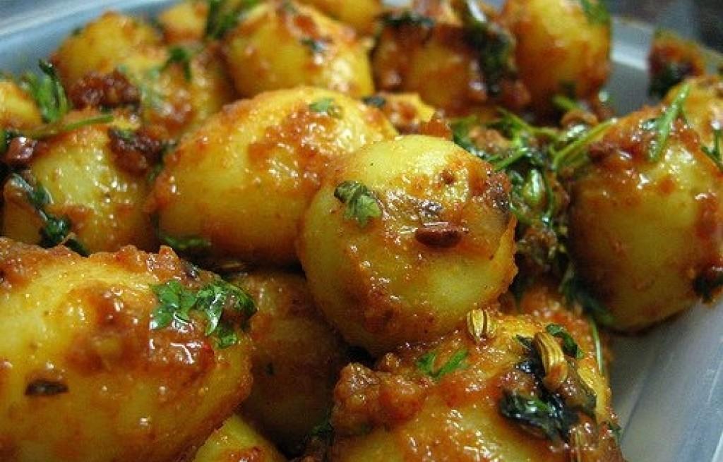 Ziemniaki z sosem miodowo-keczupowym