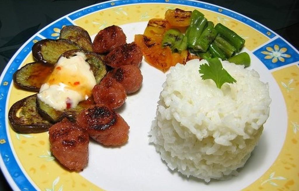 Ryż smazony z baklażanem
