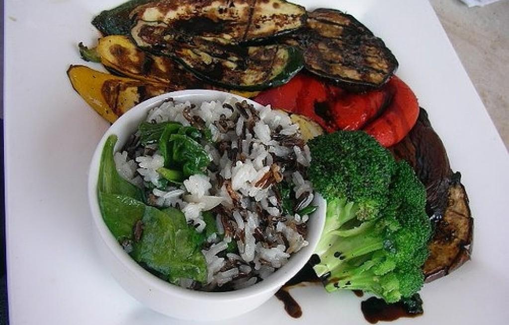 Grillowane warzywa z ryżem