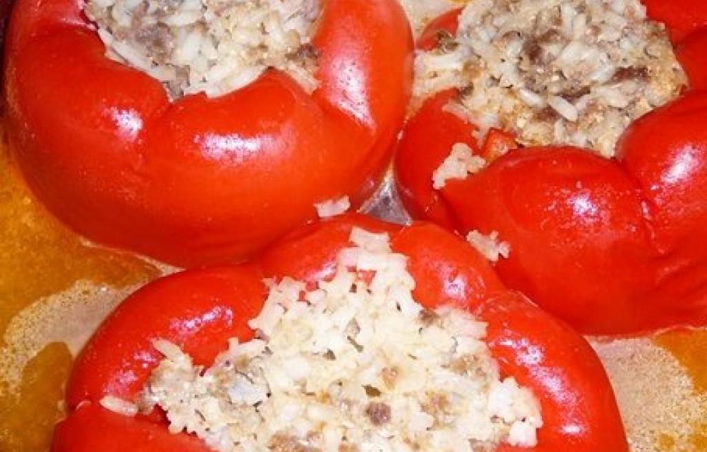 Papryka faszerowana grzybami