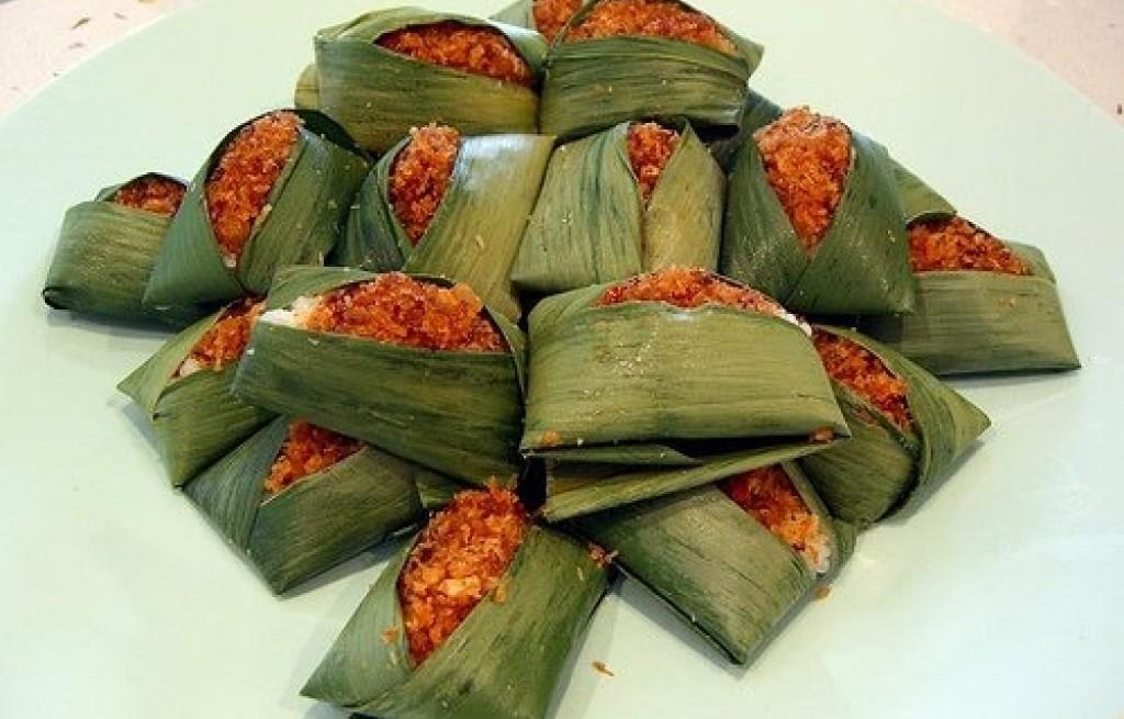 Pory nadziewane ryżem i krewetkami