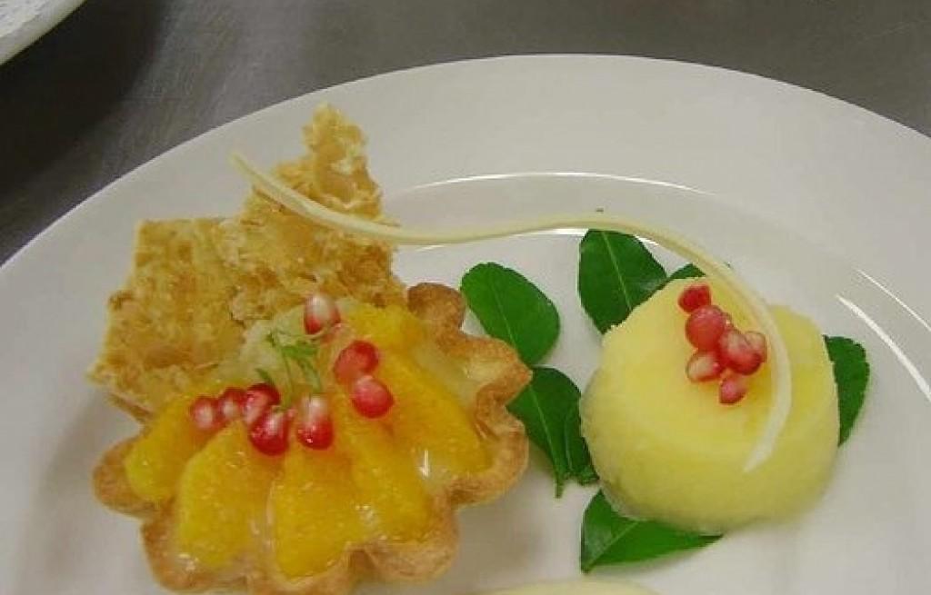 Tarta pomarańczowa z twarogiem cytrynowym