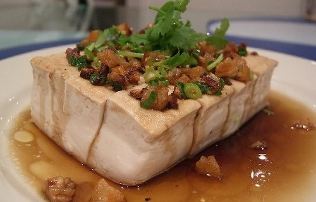 Tofu gotowane z krewetkami