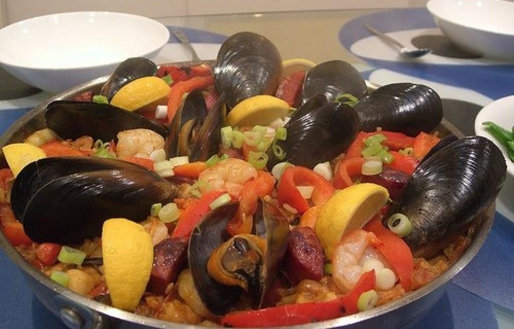 Paella z owoców morza