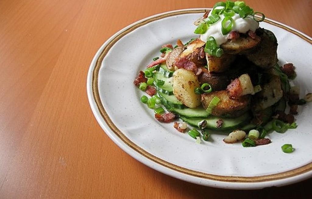 Ziemniaki smażone z boczkiem