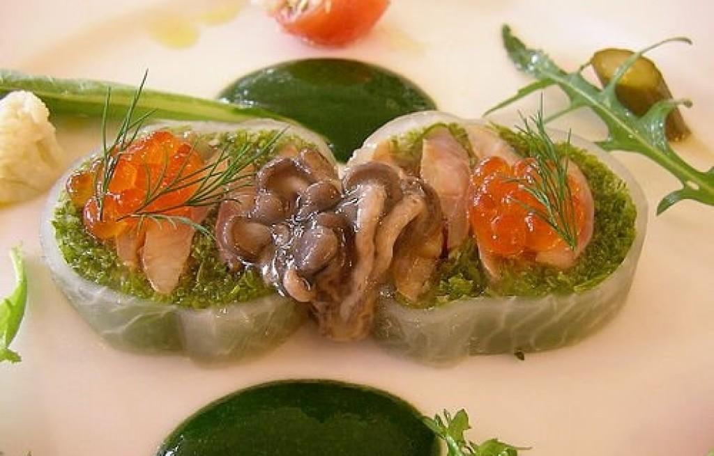 Terrine z białego łososia