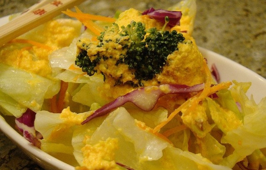 Warzywa z imbirem i sosem pomarańczowym