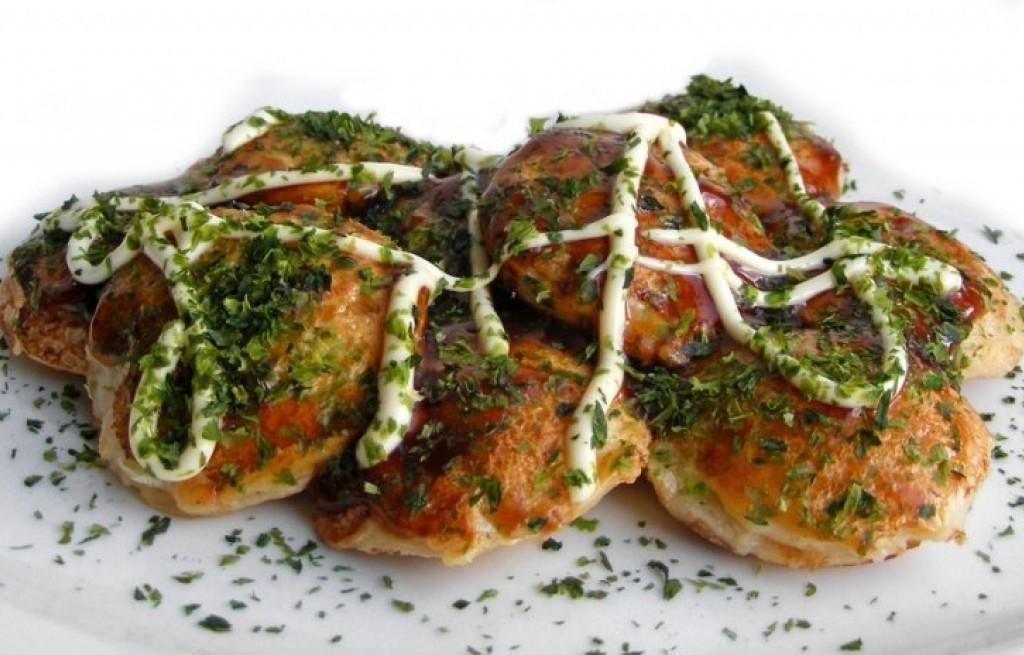 Tokoyaki z krewetkami i majonezem