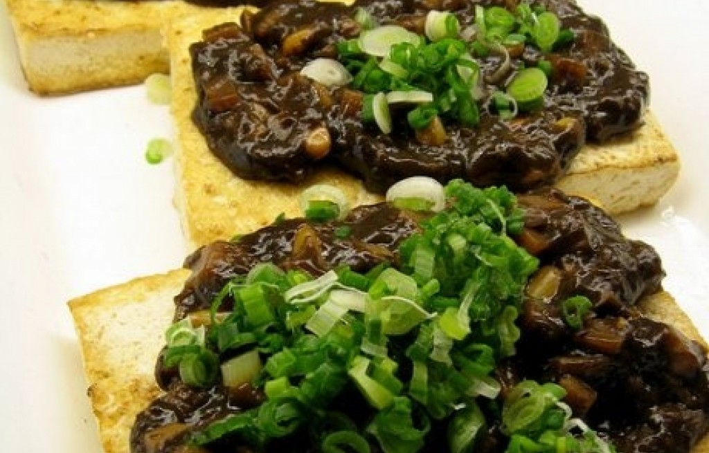 Stek ryżowy z miso i tofu