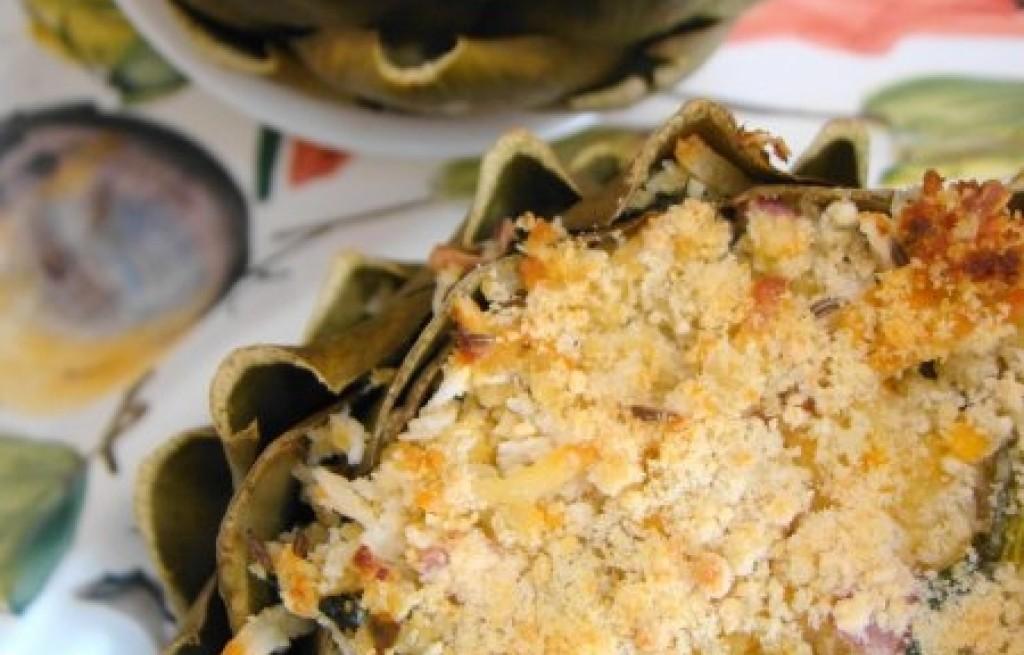 Karczochy ze szpinakiem i melonem