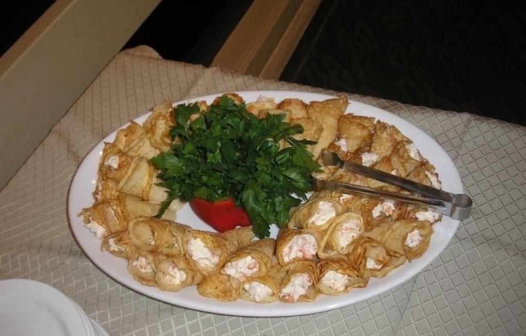 Naleśniki z łososiem i serem