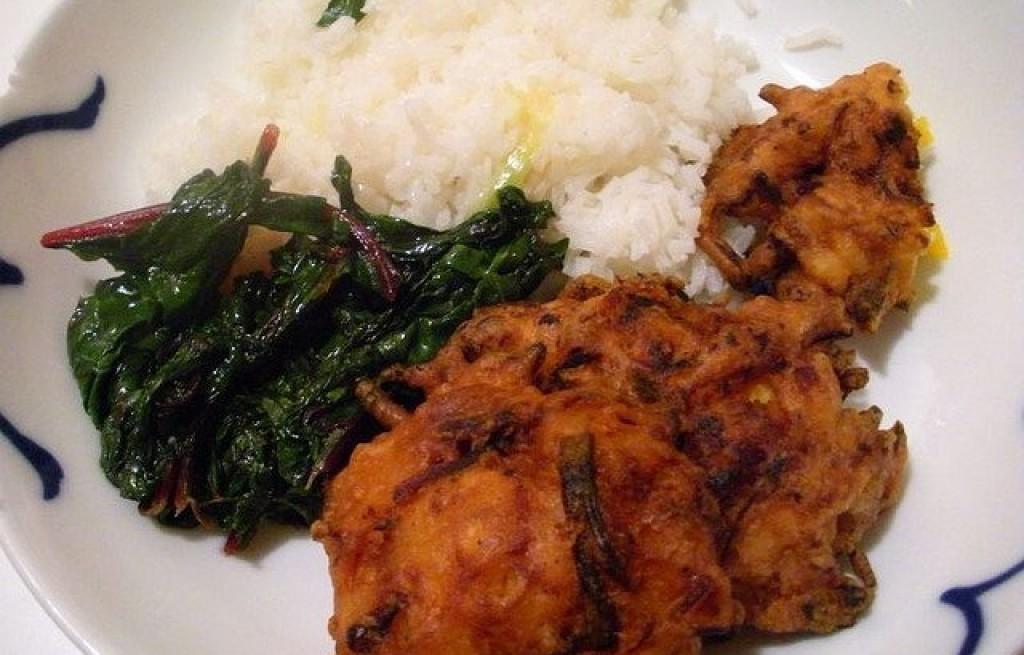 Ukoy z botwiną i ryżem