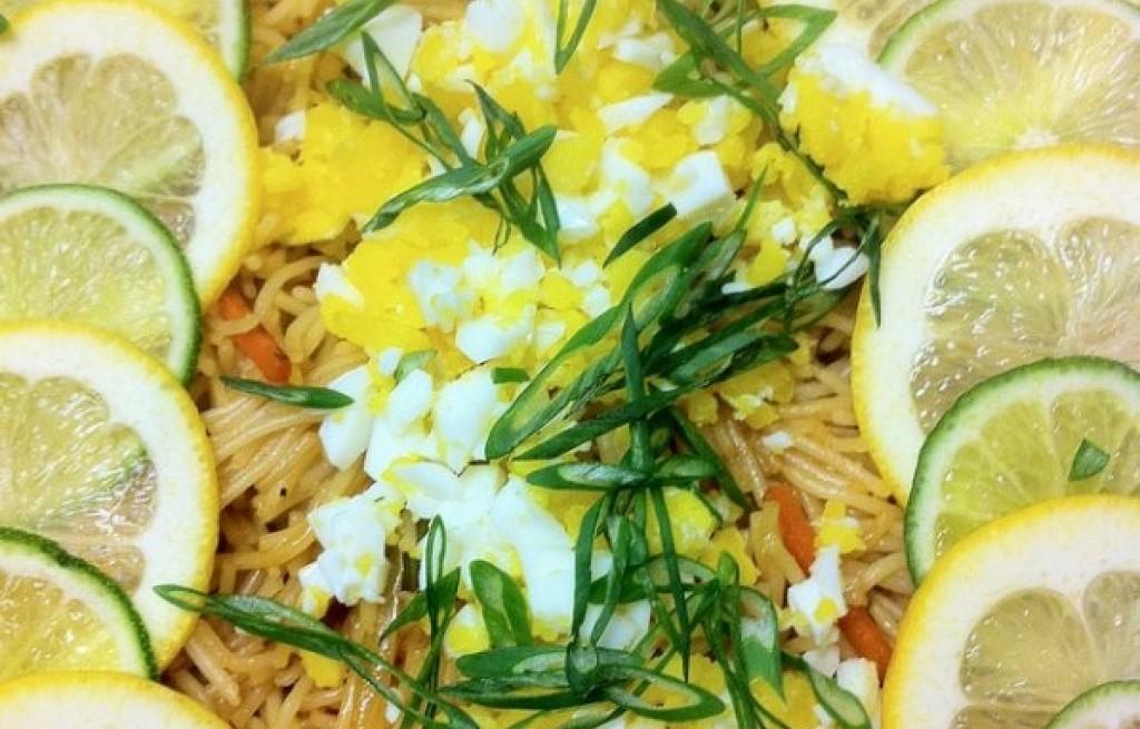 Makaron z jajkiem i cytryną