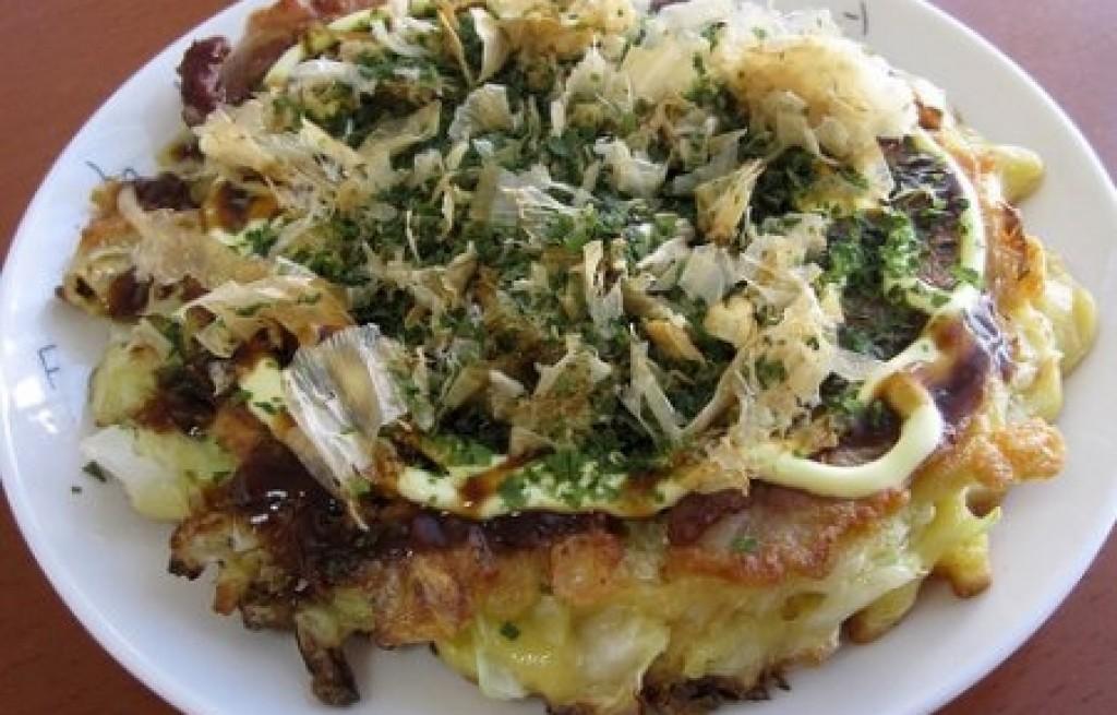 Okonomiyaki z łososiem