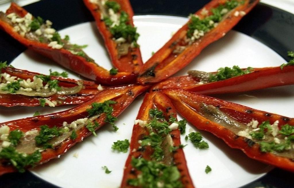 Papryka grillowana z sardelą