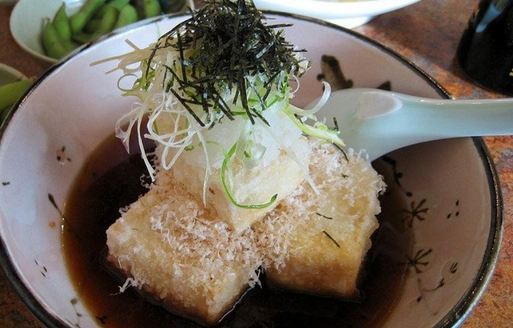 Tofu smażone z dorszem i nori