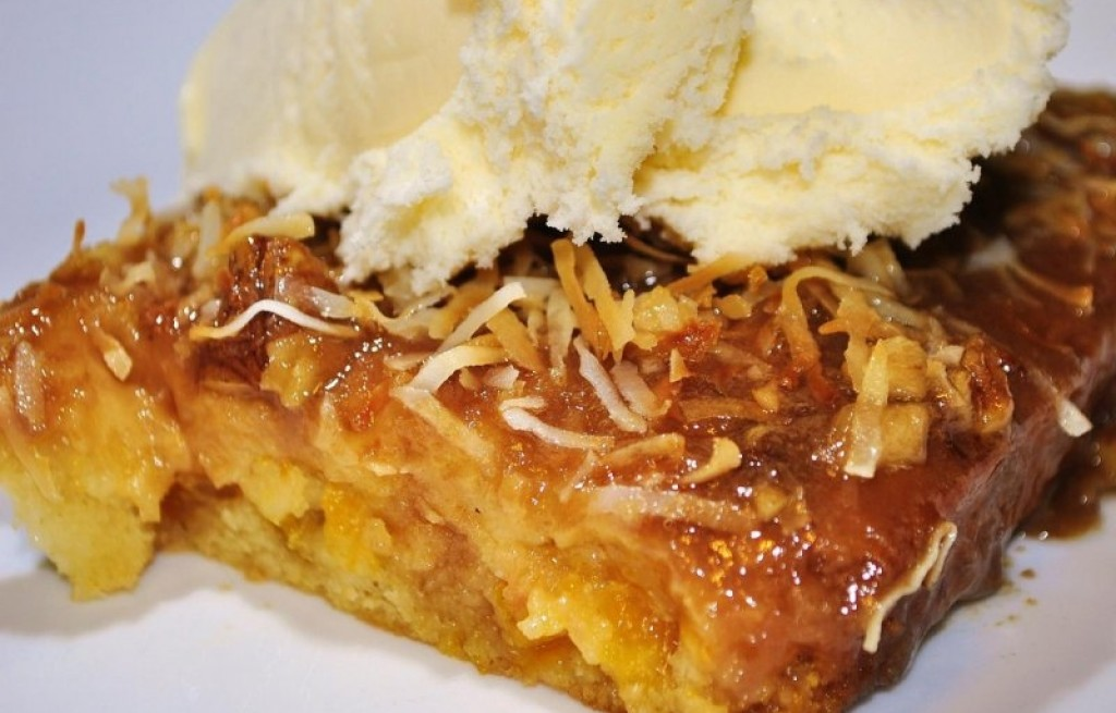 Ciasto mandarynkowe z lodem