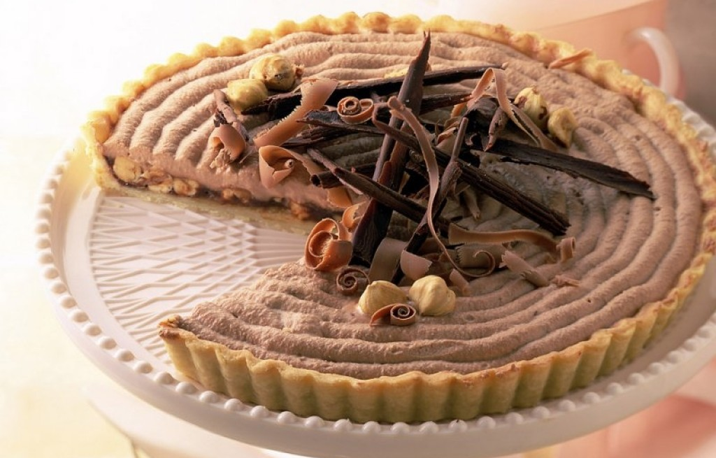Tarta serowa z kakao i orzechami