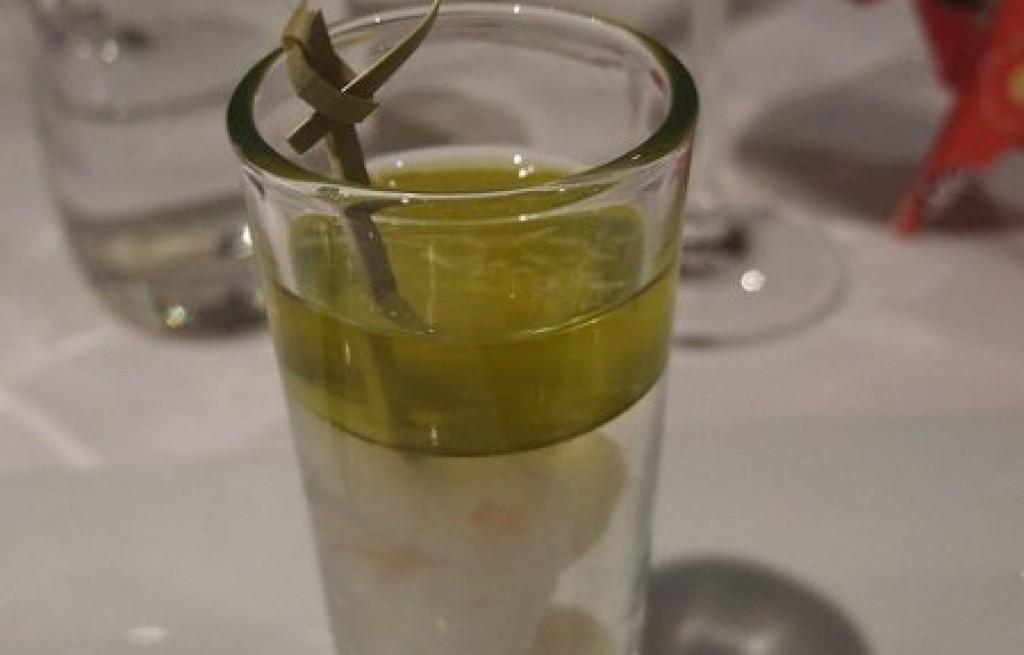 Napój krewetkowy z sokiem cytrynowym