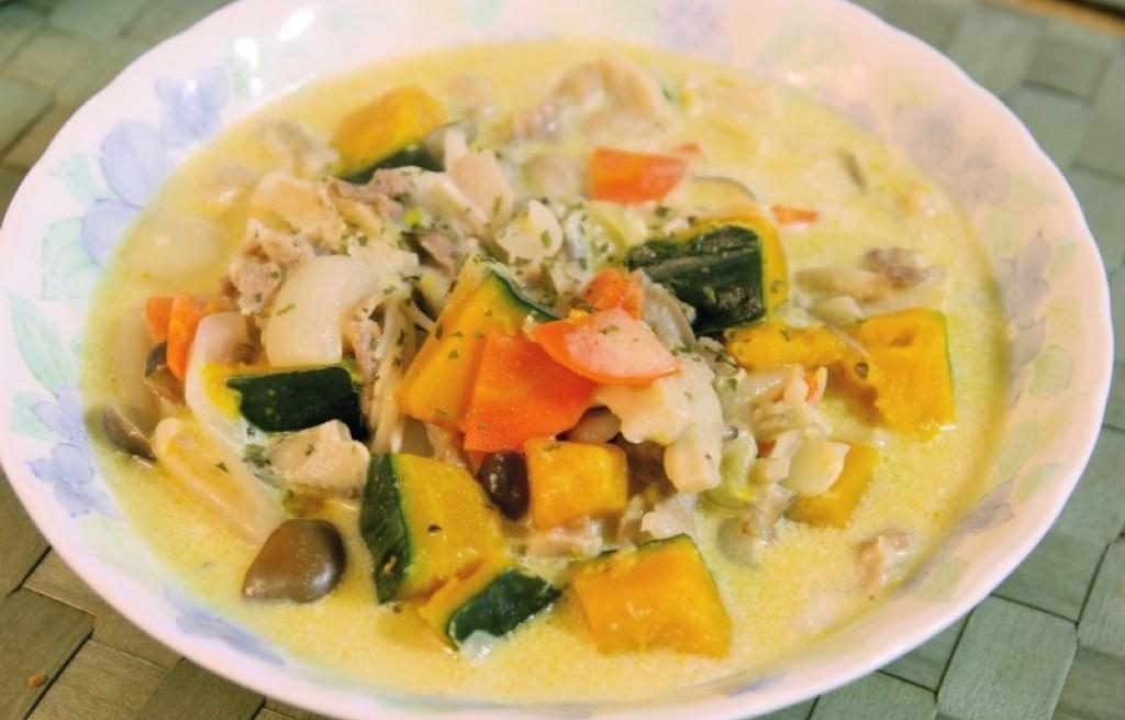 Zupa z dyni i pieczarek