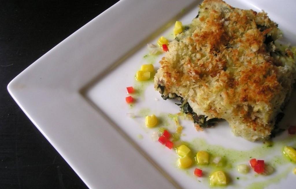 Kotlety ziemniaczano-rybne ze szpinakiem