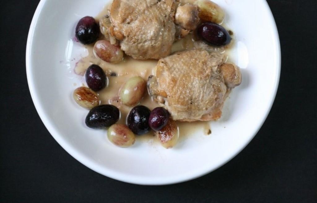 Kurczak duszony w winogronie