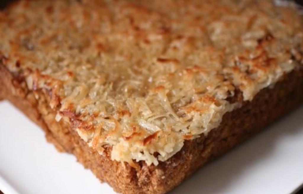Ciasto owsiane z wiórkami kokosowymi
