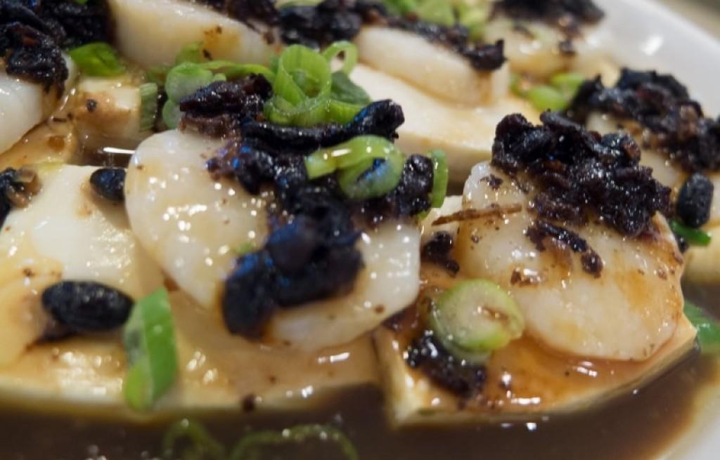 Przegrzebki z tofu w sosie sojowym
