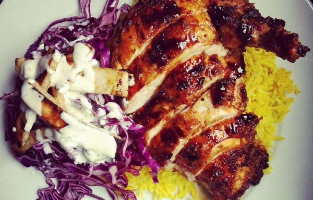 Kurczak z ryżem i pitą
