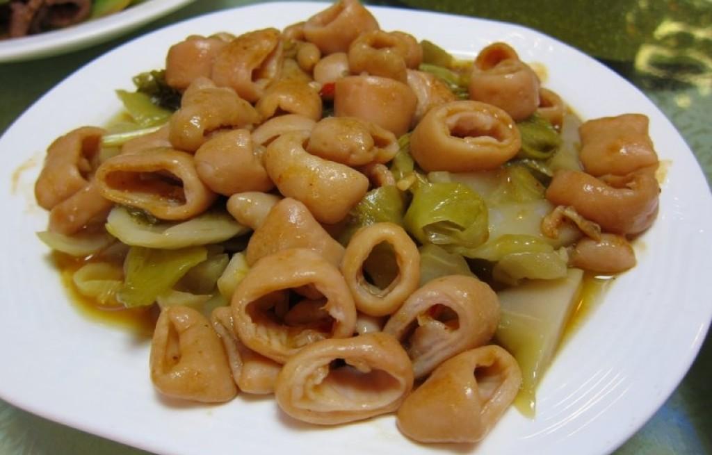 Flaczki wieprzowe z warzywami