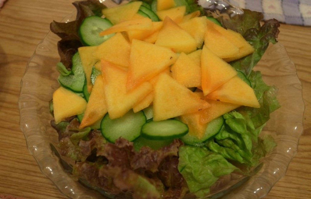 Sałatka z persimmonem