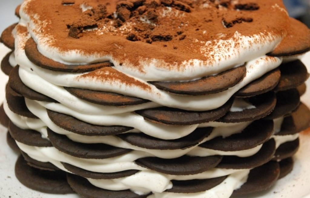 Icebox cake (ciasto-zebra)