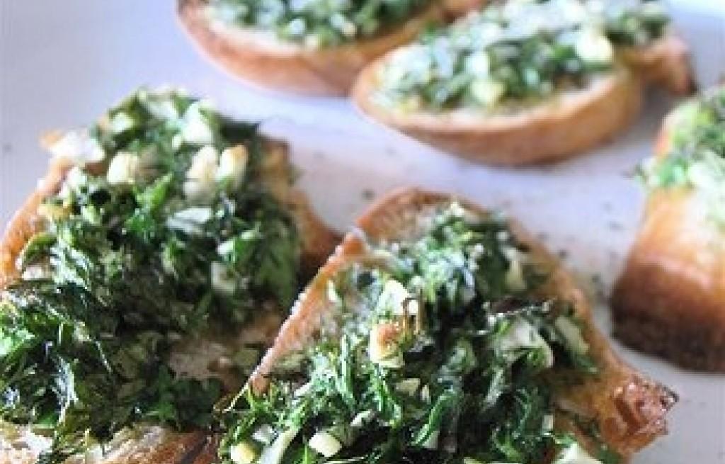 Chrupiące tosty ziołowo-serowe