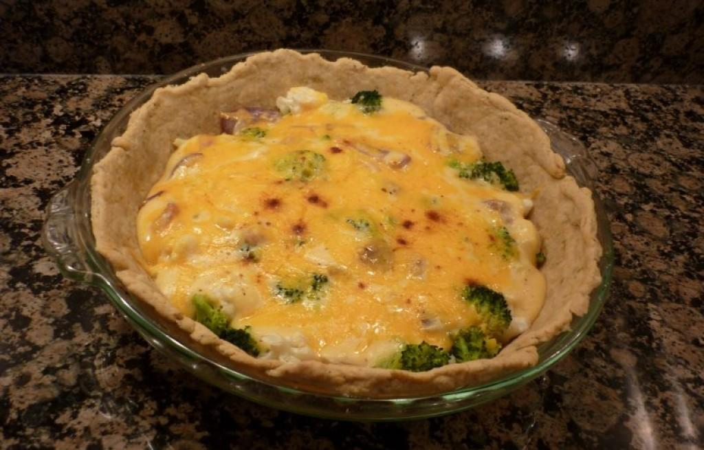 Tarta kalafiorowo-brokułowa