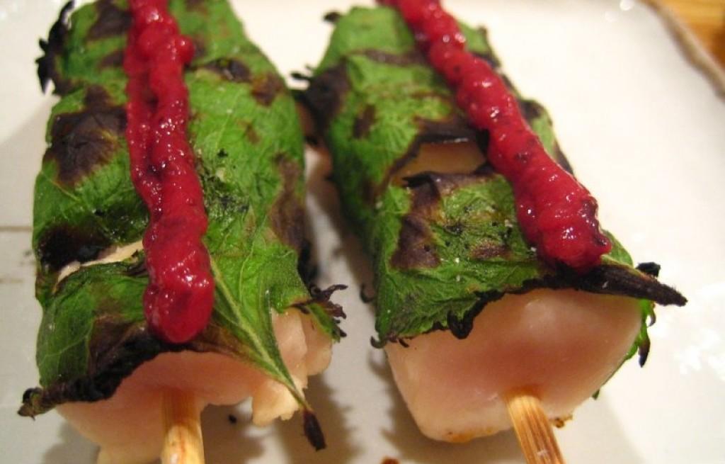 Yakitori z szałwią