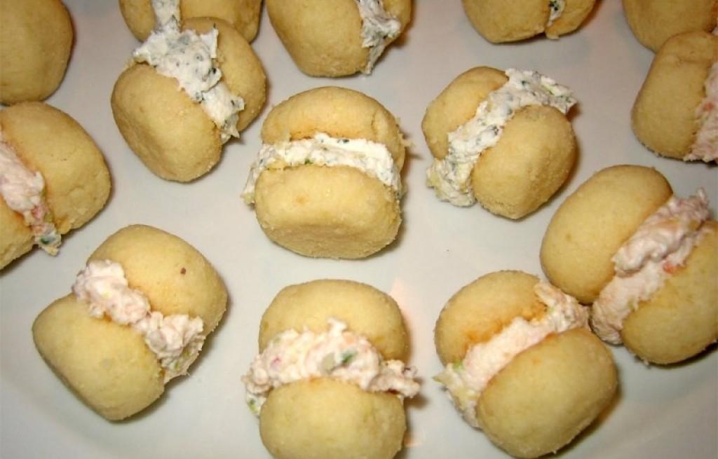 Ciastka z łososiem i serem