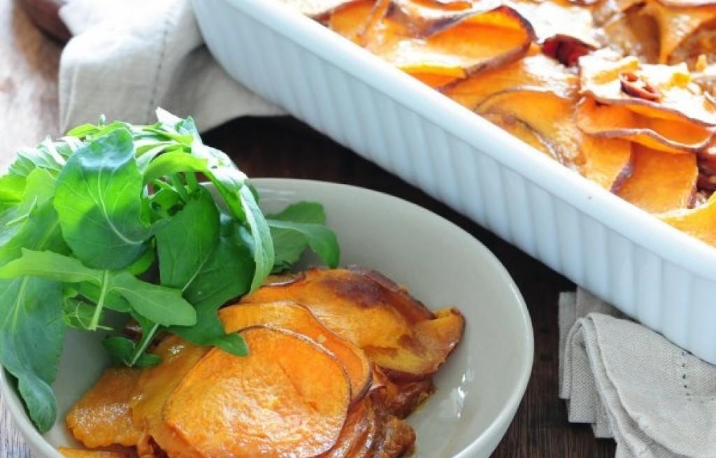 Zapiekanka ze słodkich ziemniaków
