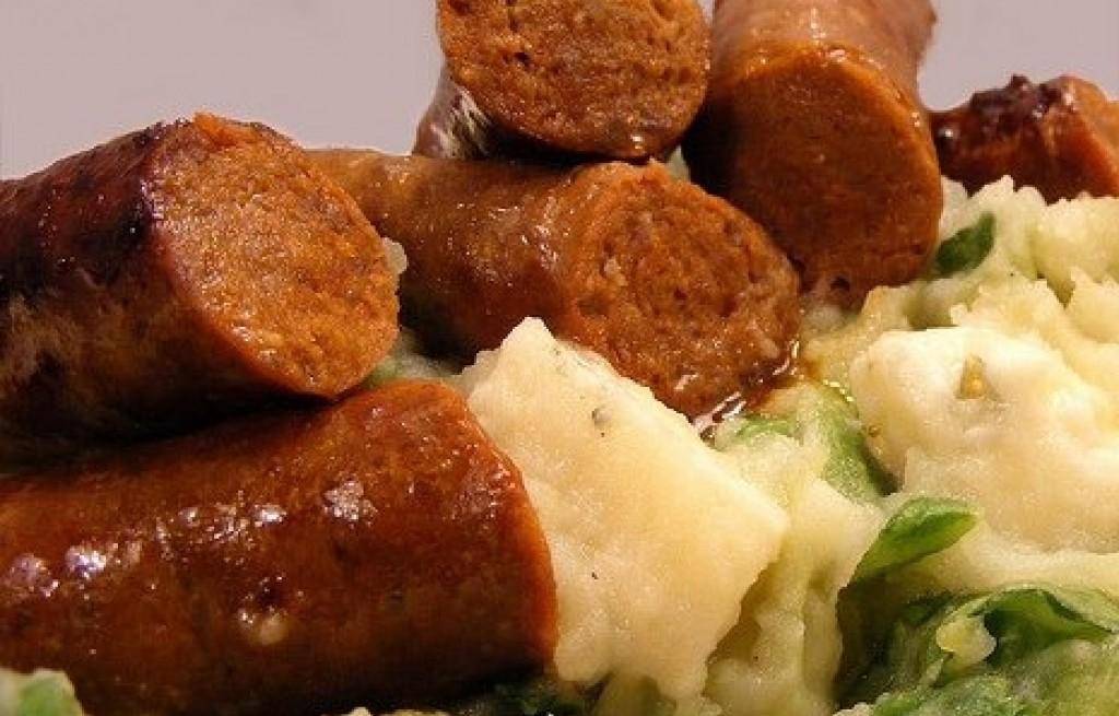 Parówka z ziemniakami i porami