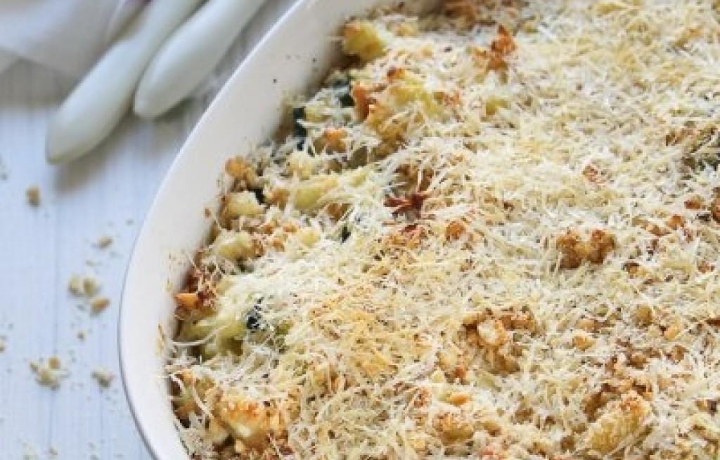Zapiekanka z cukinii, sera i pistacji