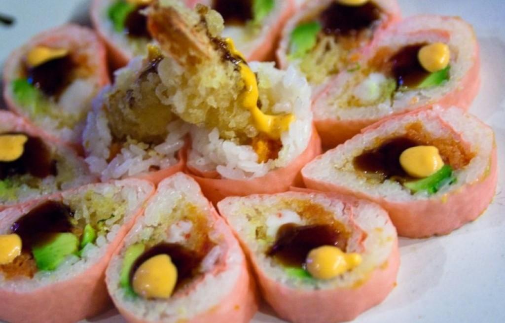Krewetki w cieście z ryżem i marynowanym imbirem