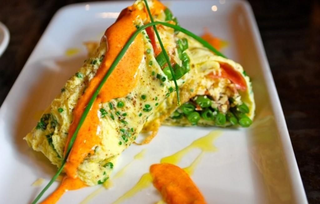 Omlet z fasolką i szynką
