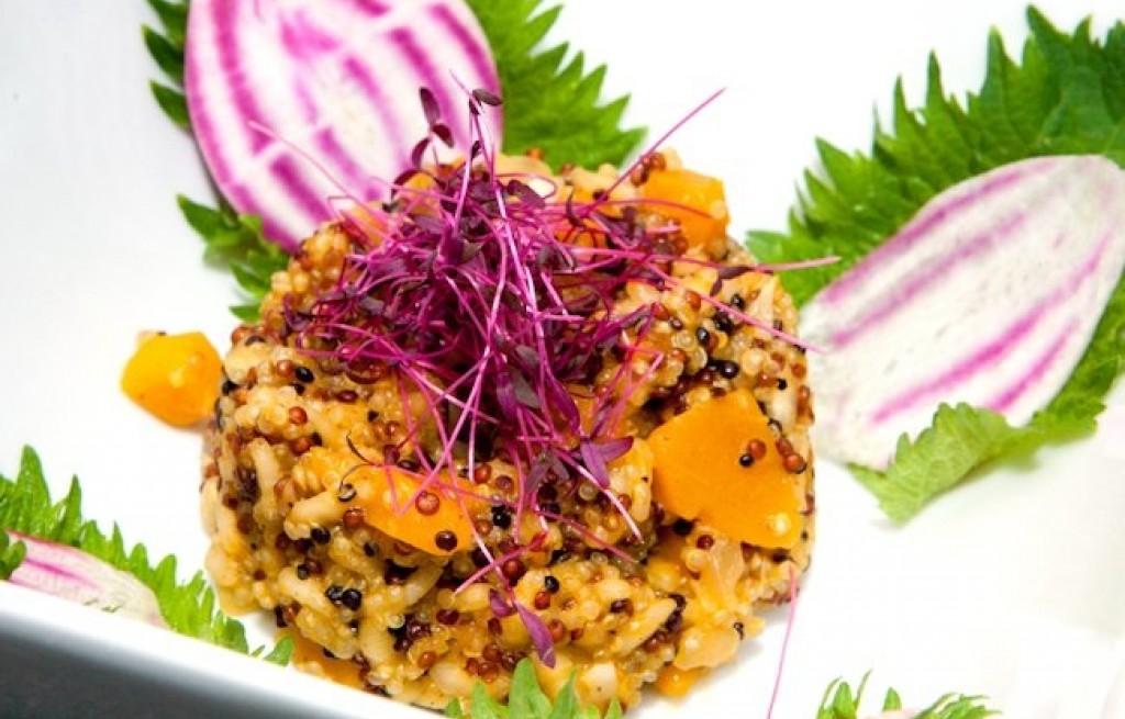 Risotto z marchewką i komosą ryżową