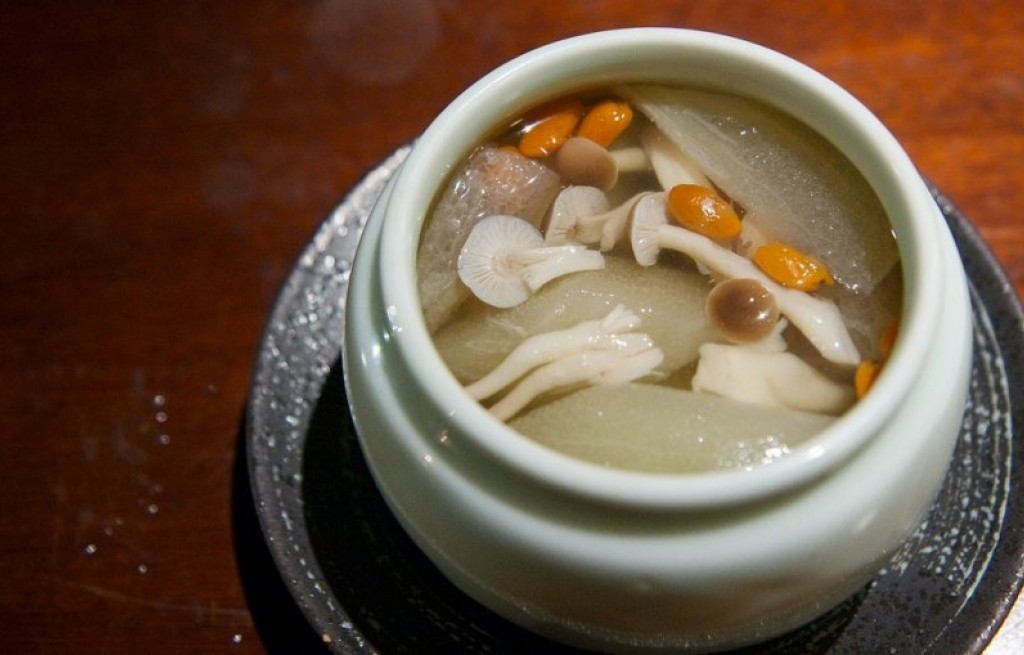 Zupa grzybowa z selerem i morelami