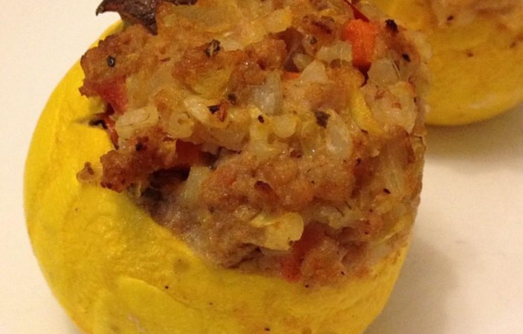 Suflet dyniowy z mięsem i ryżem