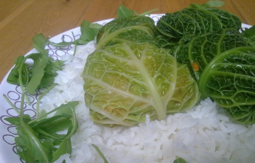 Gołąbki warzywne z ryżem