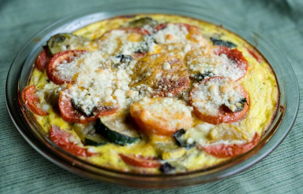 Zapiekanka pomidorowo-cukiniowa