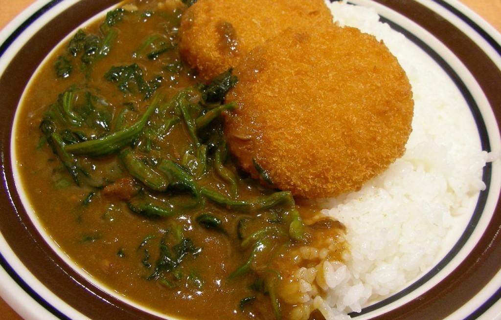 Kotlety krabowe z ryżem i szpinakiem