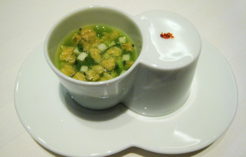 Zupa z selera, rzepy i płatków kukurydzianych