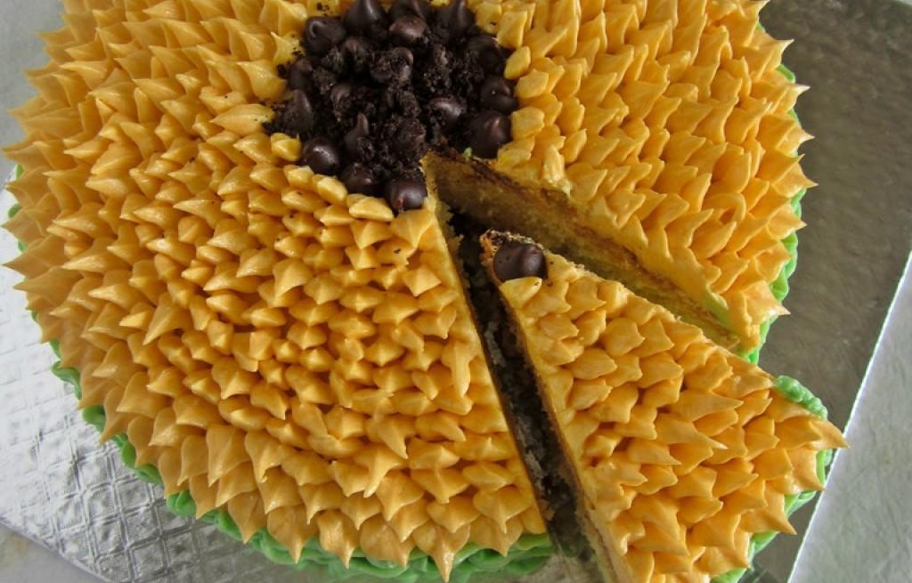 Tort słonecznikowy z dżemem